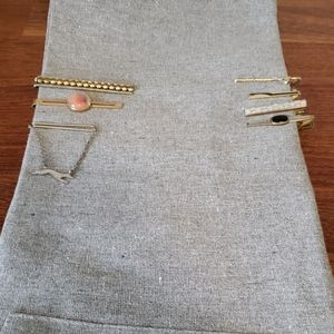 Other - 7 vintage tie clips